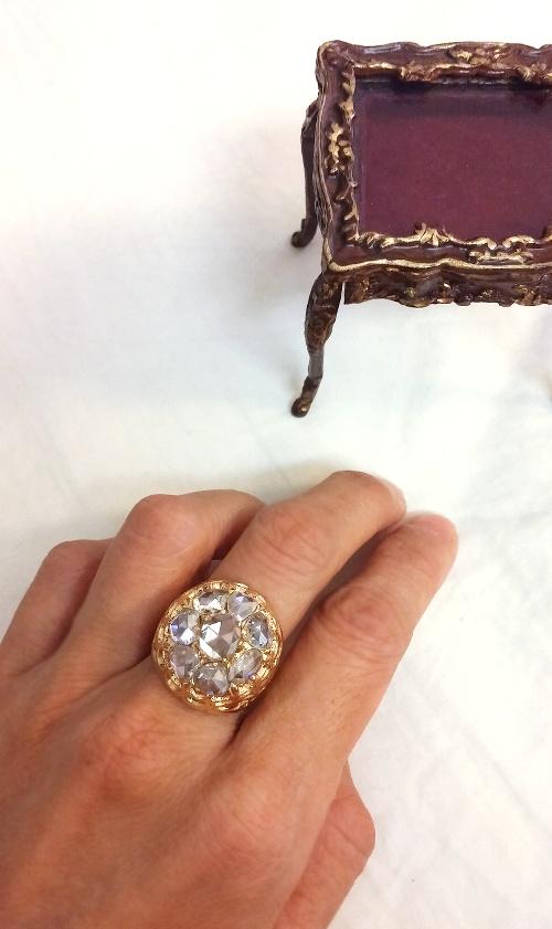 what is rose cut diamond
