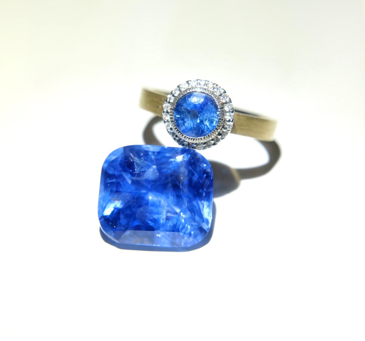 Cornflower blue sapphires