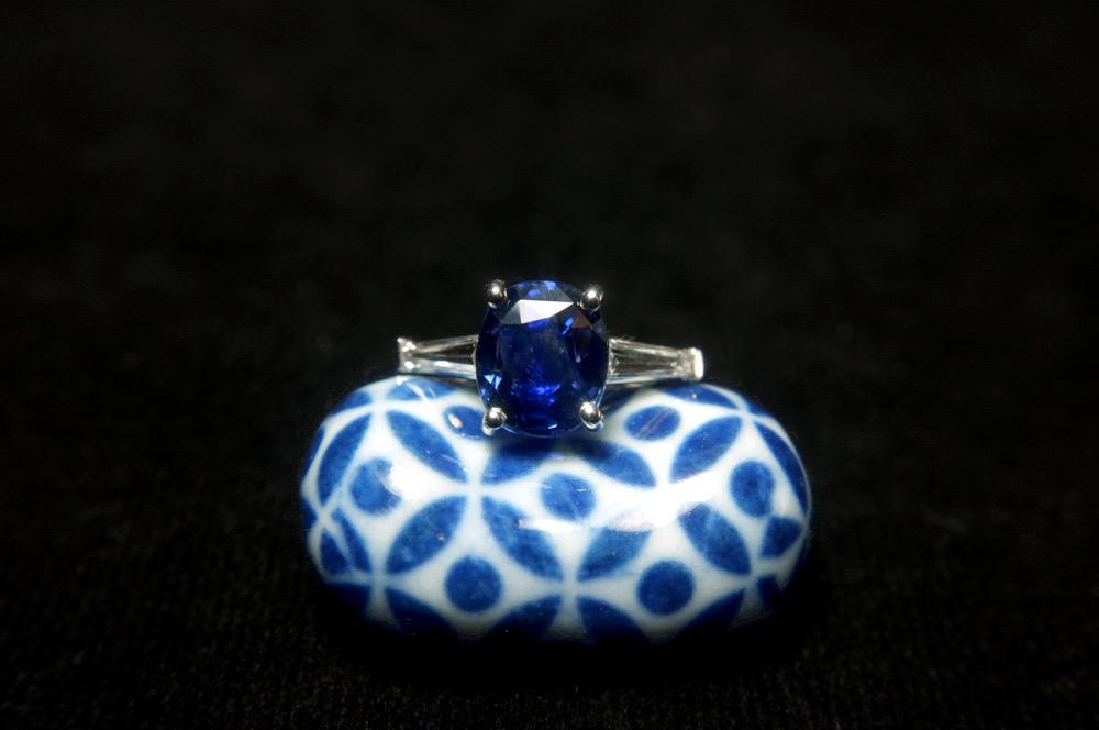 Antique Blue Sapphire Ring