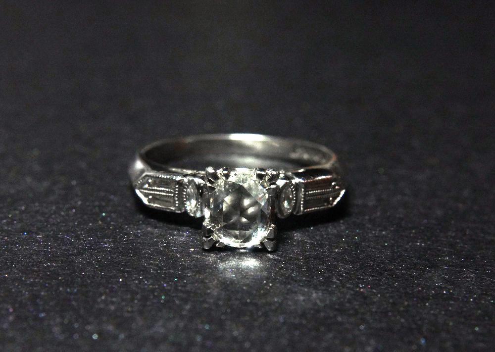rose cut diamonds on a ring
